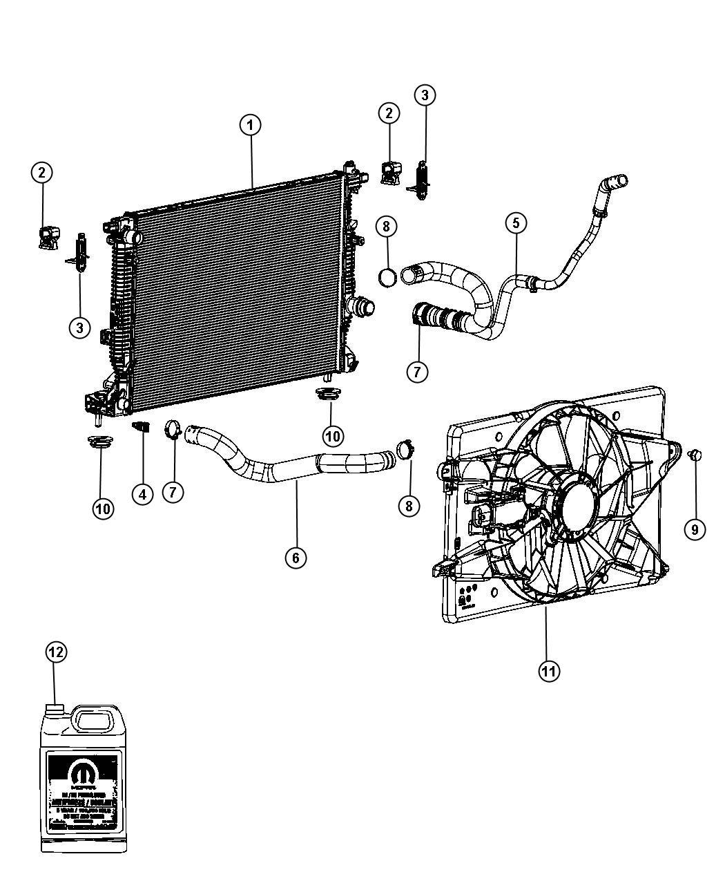 Dodge Dart Fan module. Radiator cooling. Up to 06/04/12