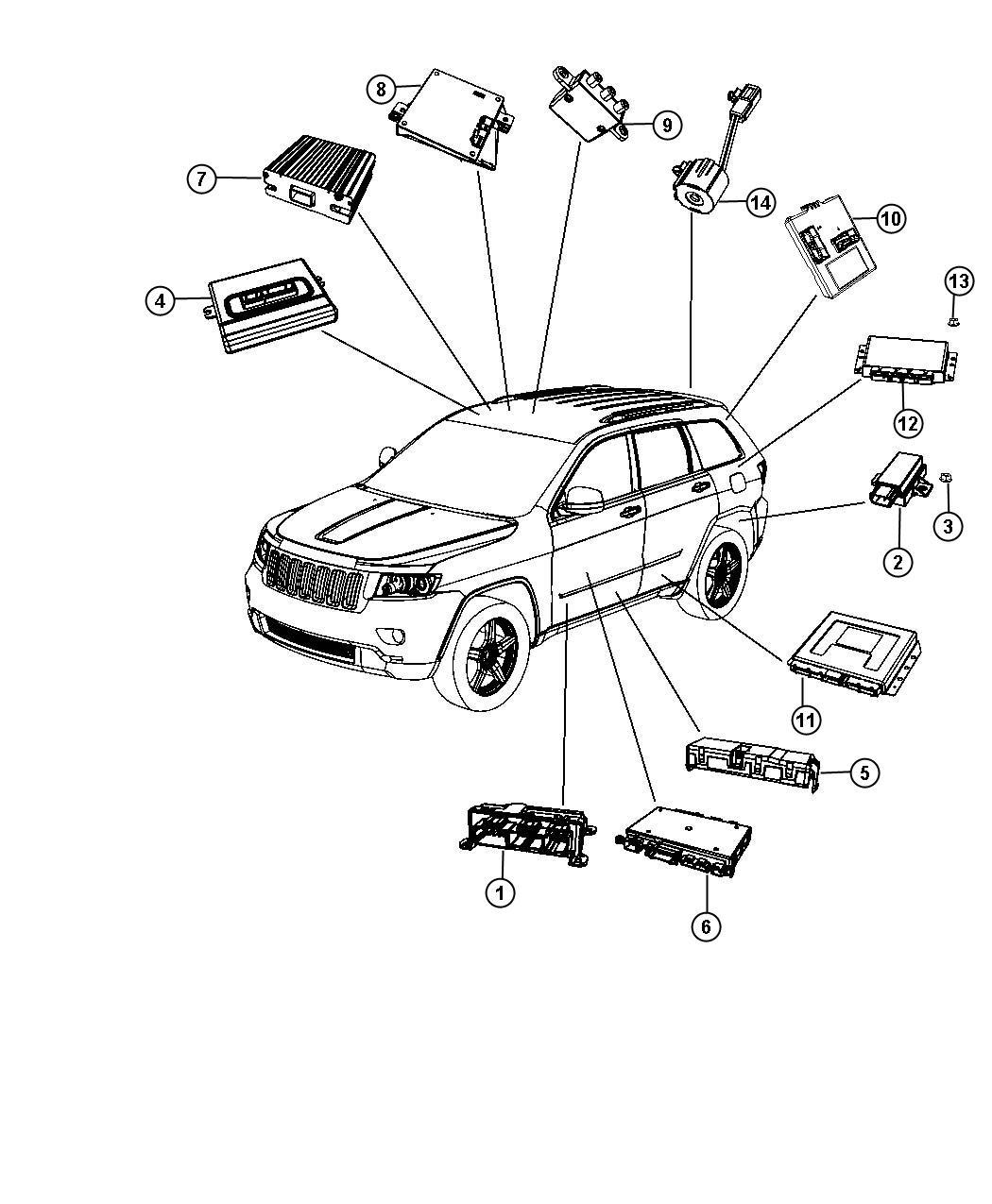 Jeep Grand Cherokee Module Transfer Case Control