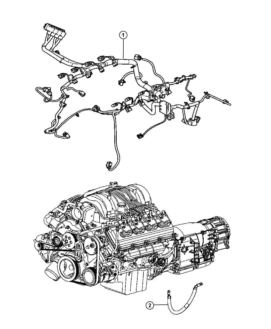 Jeep Grand Cherokee Wiring. Injector. Engine, mopar