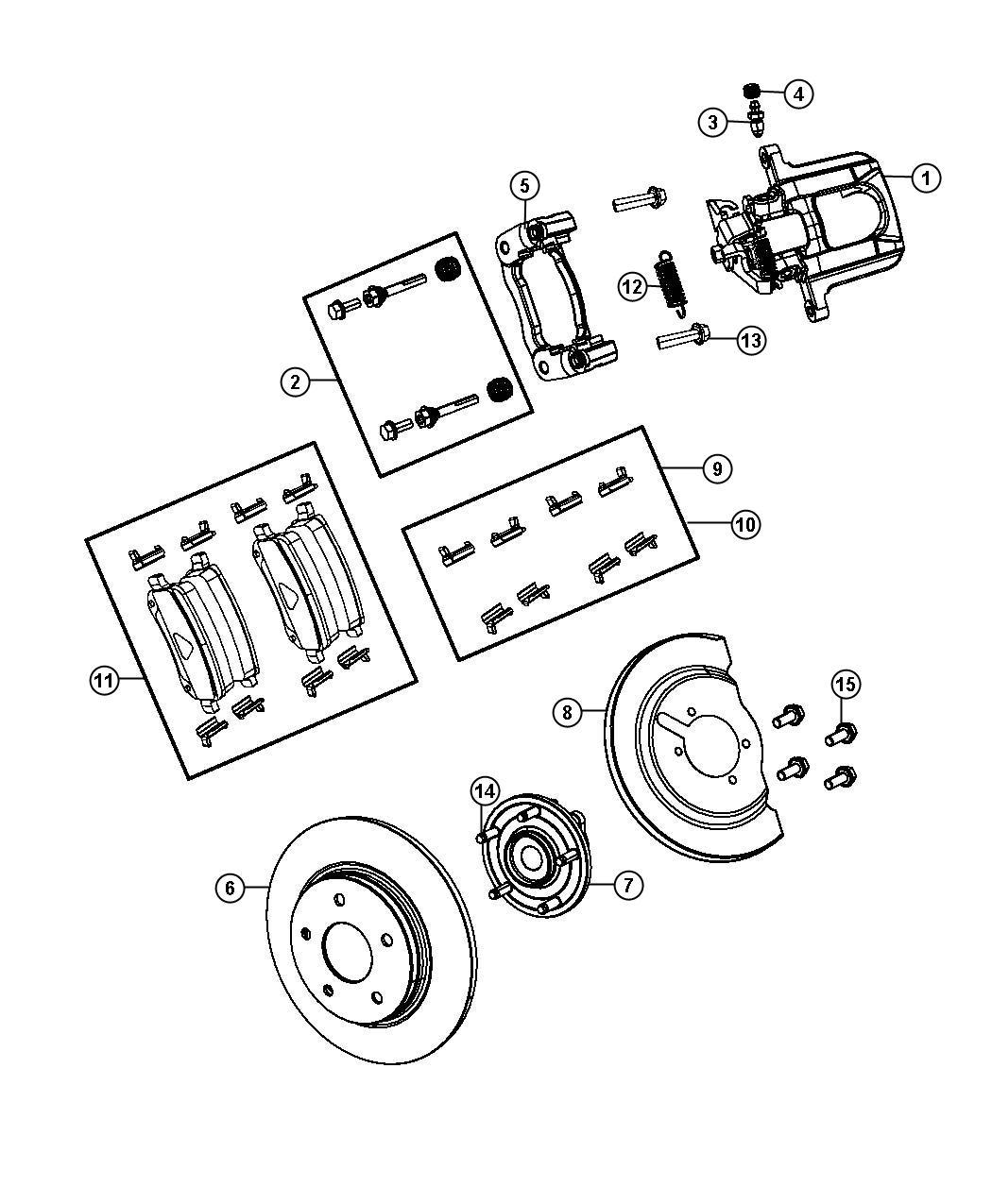 2012 Dodge Grand Caravan Pin kit. Disc brake. [br1], [bre