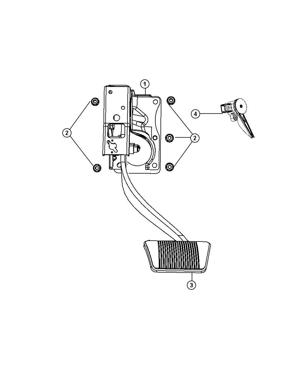 Dodge Journey Pedal. Brake. Transmission, automatic