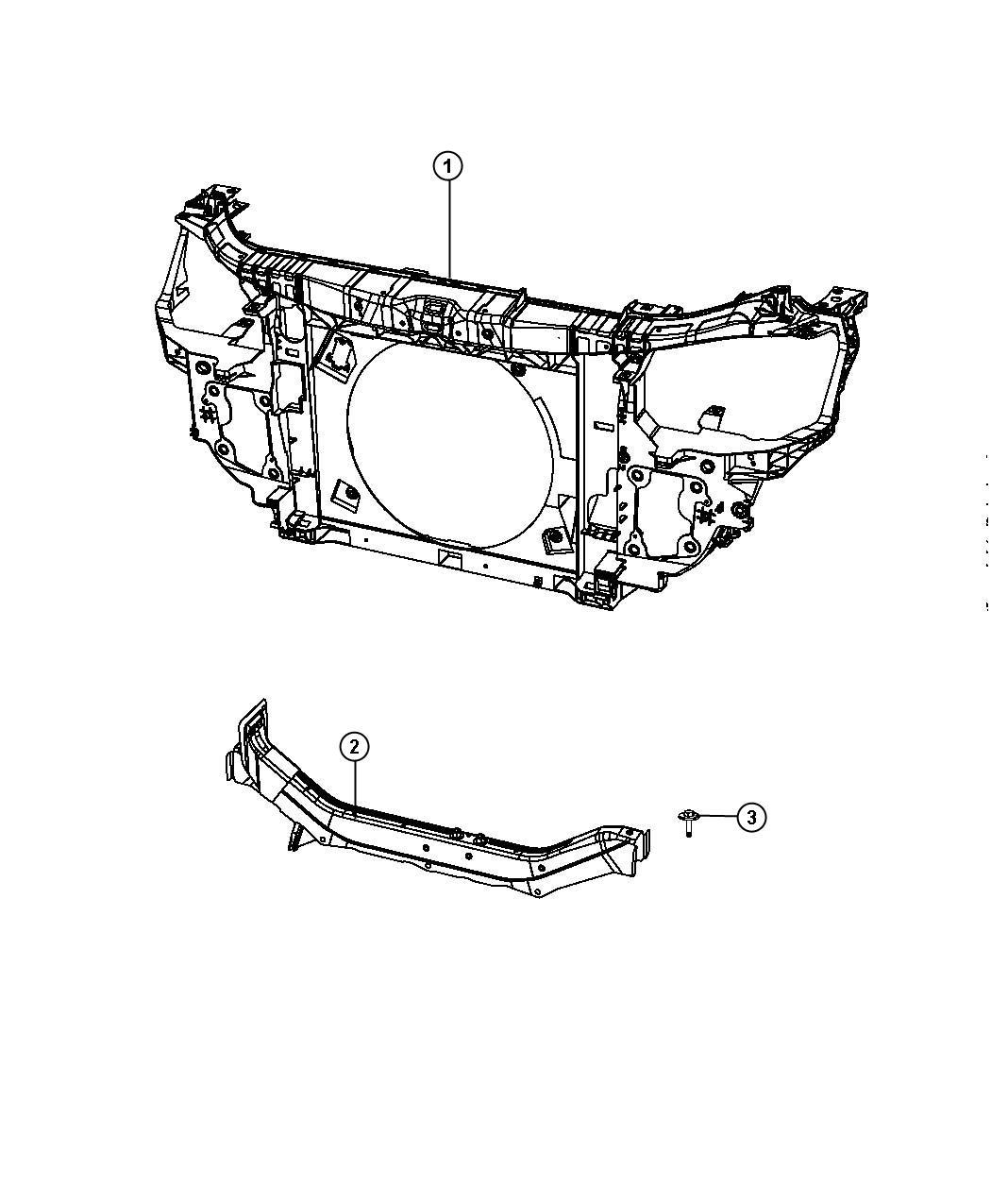 Dodge Journey Panel Radiator Closure