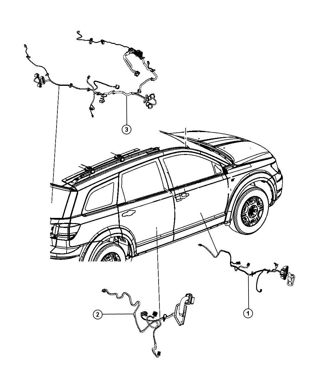 2013 Dodge Journey Wiring. Liftgate. [incandescent stop