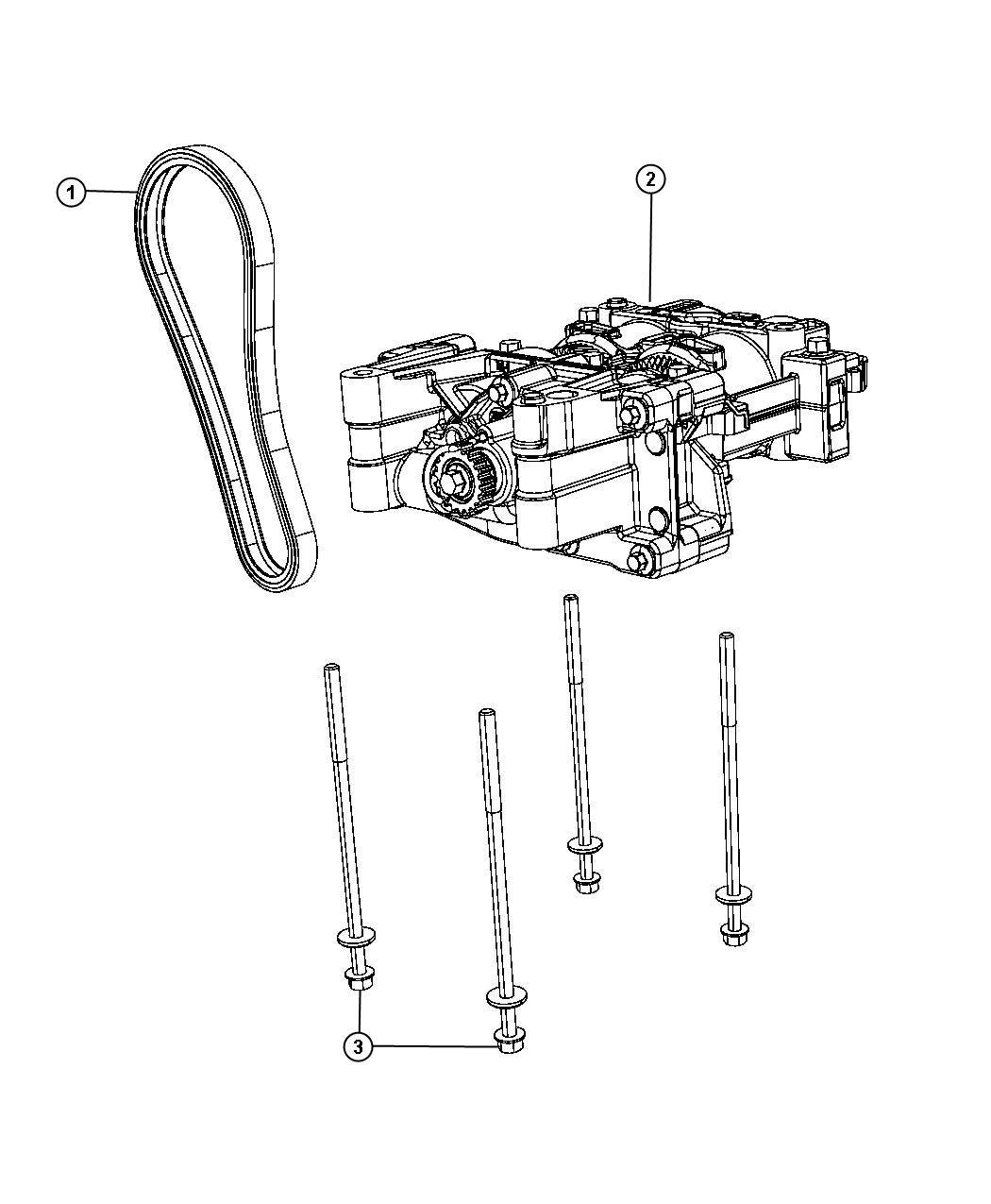 Dodge Dart Shaft Balance Oil Pump Engine Assembly