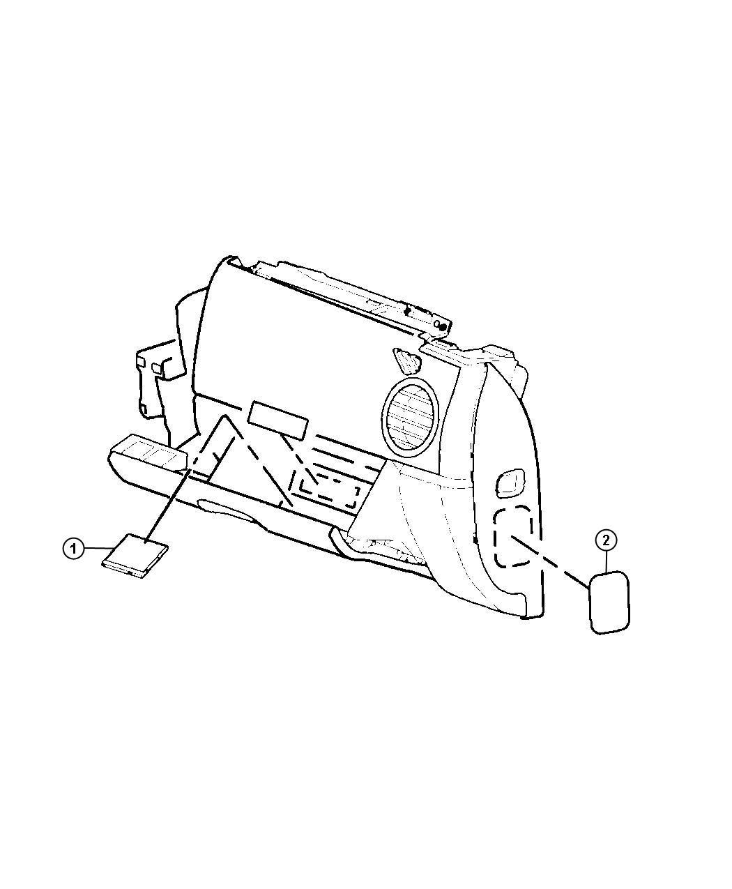 Jeep Wrangler Label. Air bag, air bag warning. Glove box