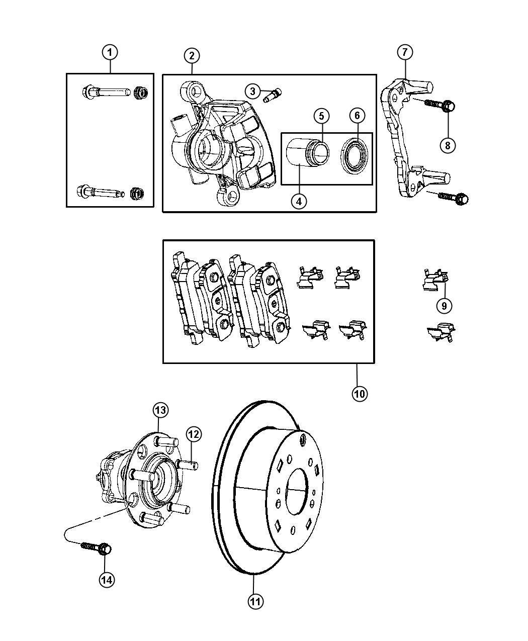2013 Chrysler 200 Rotor. Brake. Right or left. Brakes