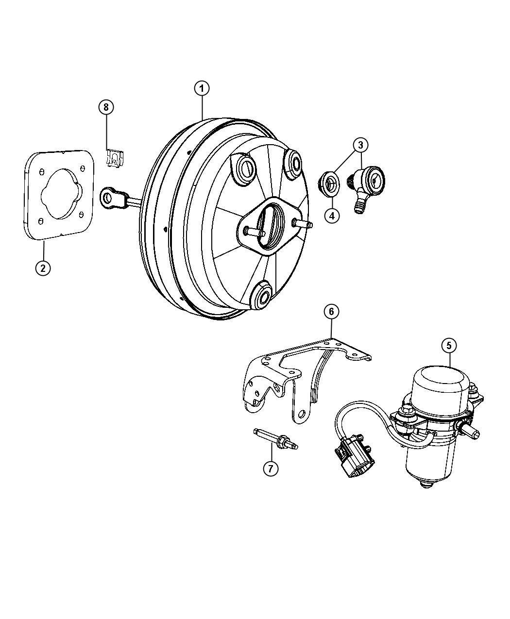 2013 Dodge Avenger Booster. Power brake. [3.6l v6 vvt