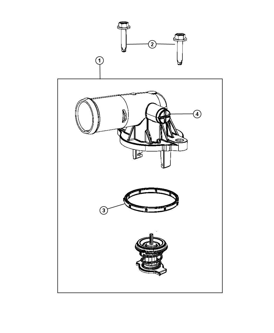 Dodge Avenger Housing Thermostat Seal Screw Bleeder