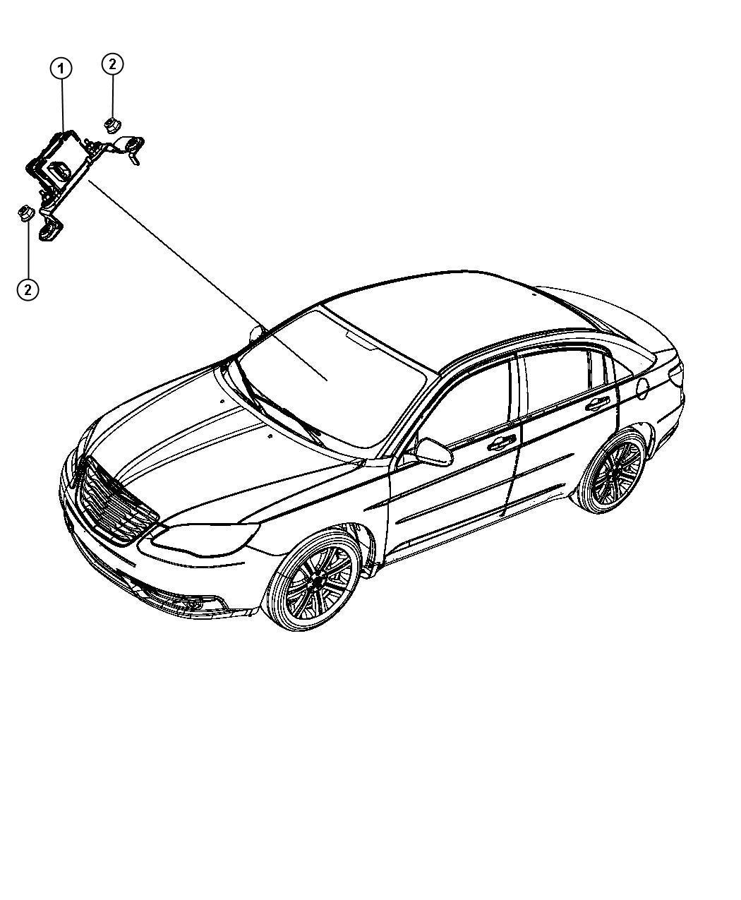 2013 Dodge Avenger Sensor. Dynamics. Used for: lateral