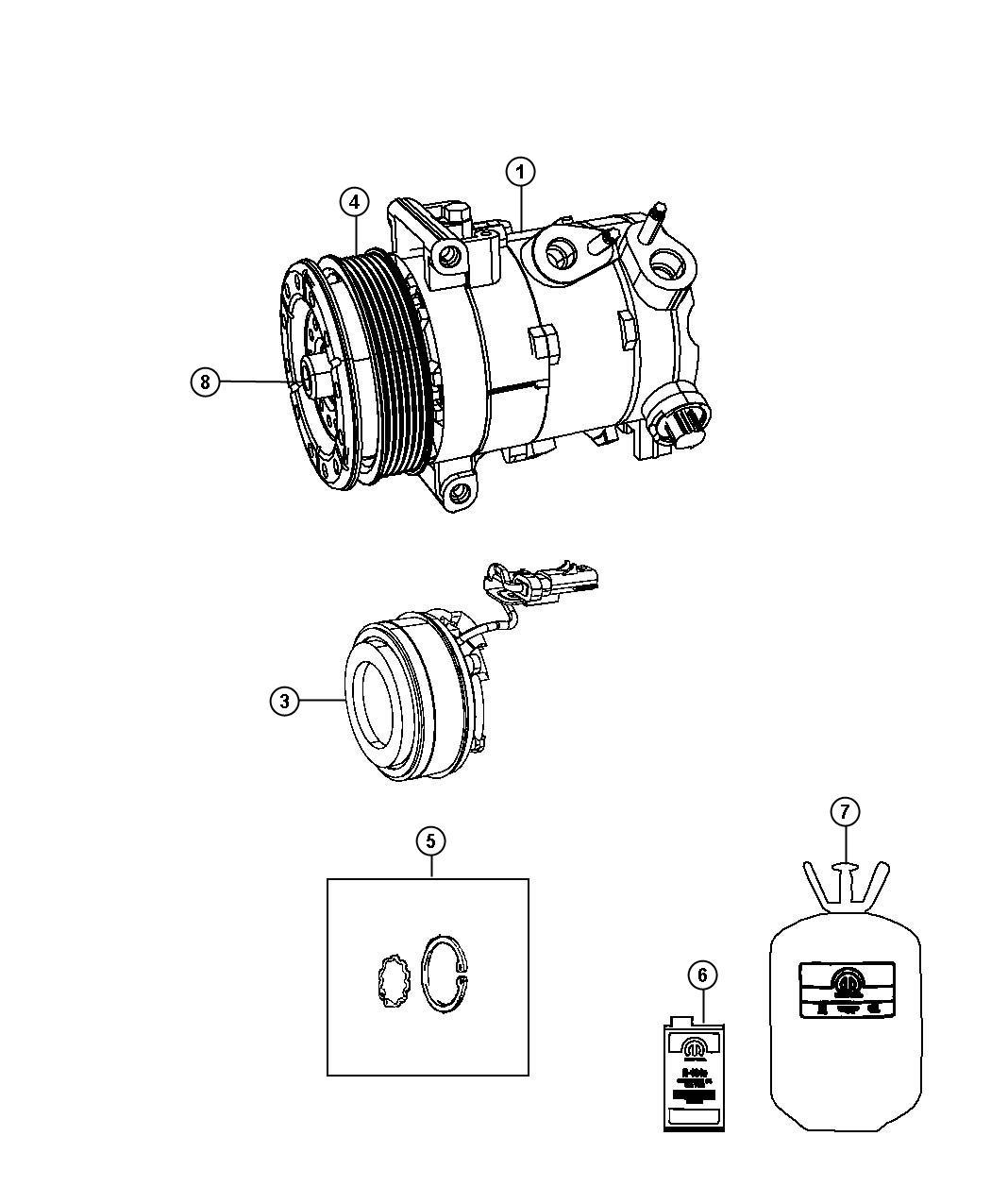 Dodge Avenger Pulley Hub Kit A C Compressor No