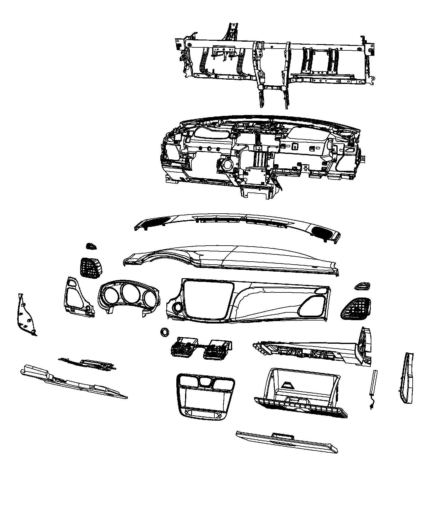 2013 Chrysler 200 Bezel. Instrument panel. Center. Trim