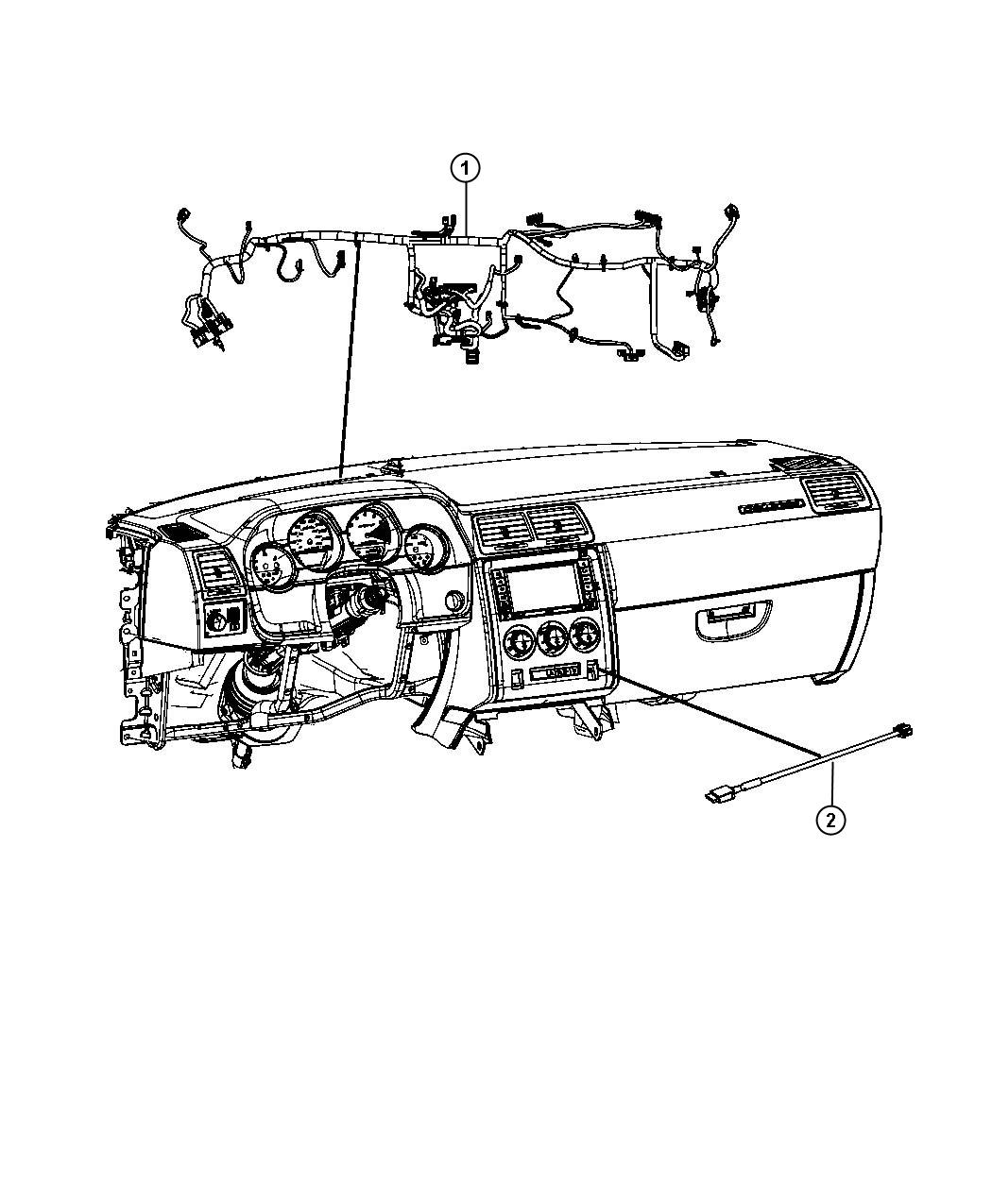 2013 Dodge Challenger Wiring. Instrument panel. Command
