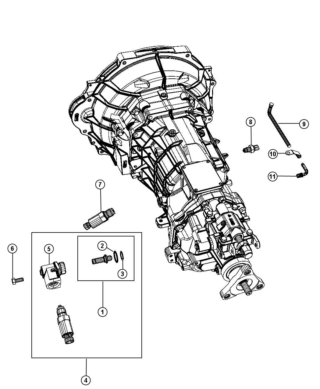 Dodge Challenger Detent Gearshift Housing Rear