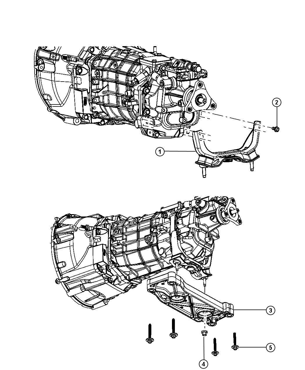 2016 Dodge Challenger Crossmember. Transmission