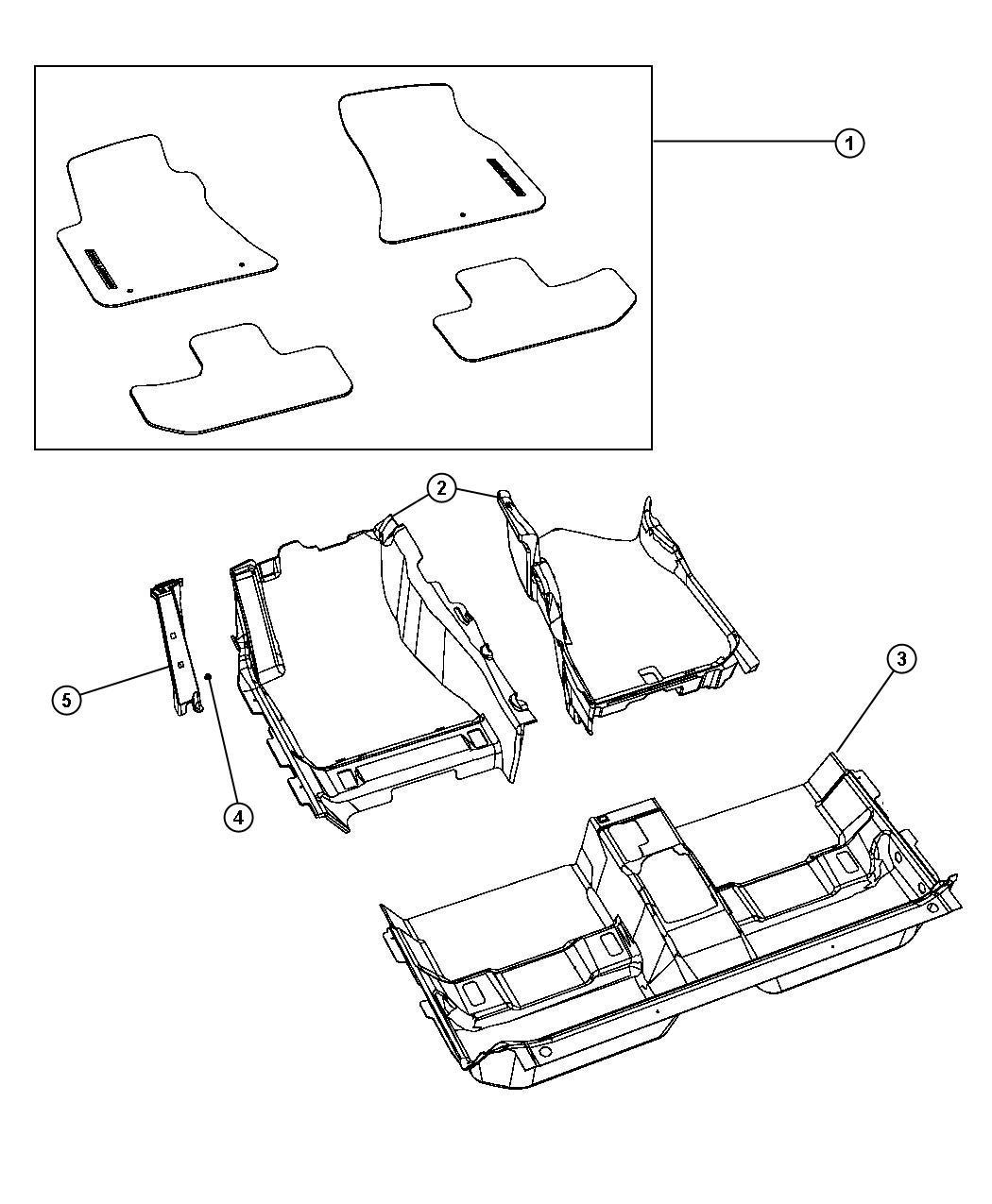 2014 Dodge Challenger Mat kit. Floor. [clz]. Trim: (*o0