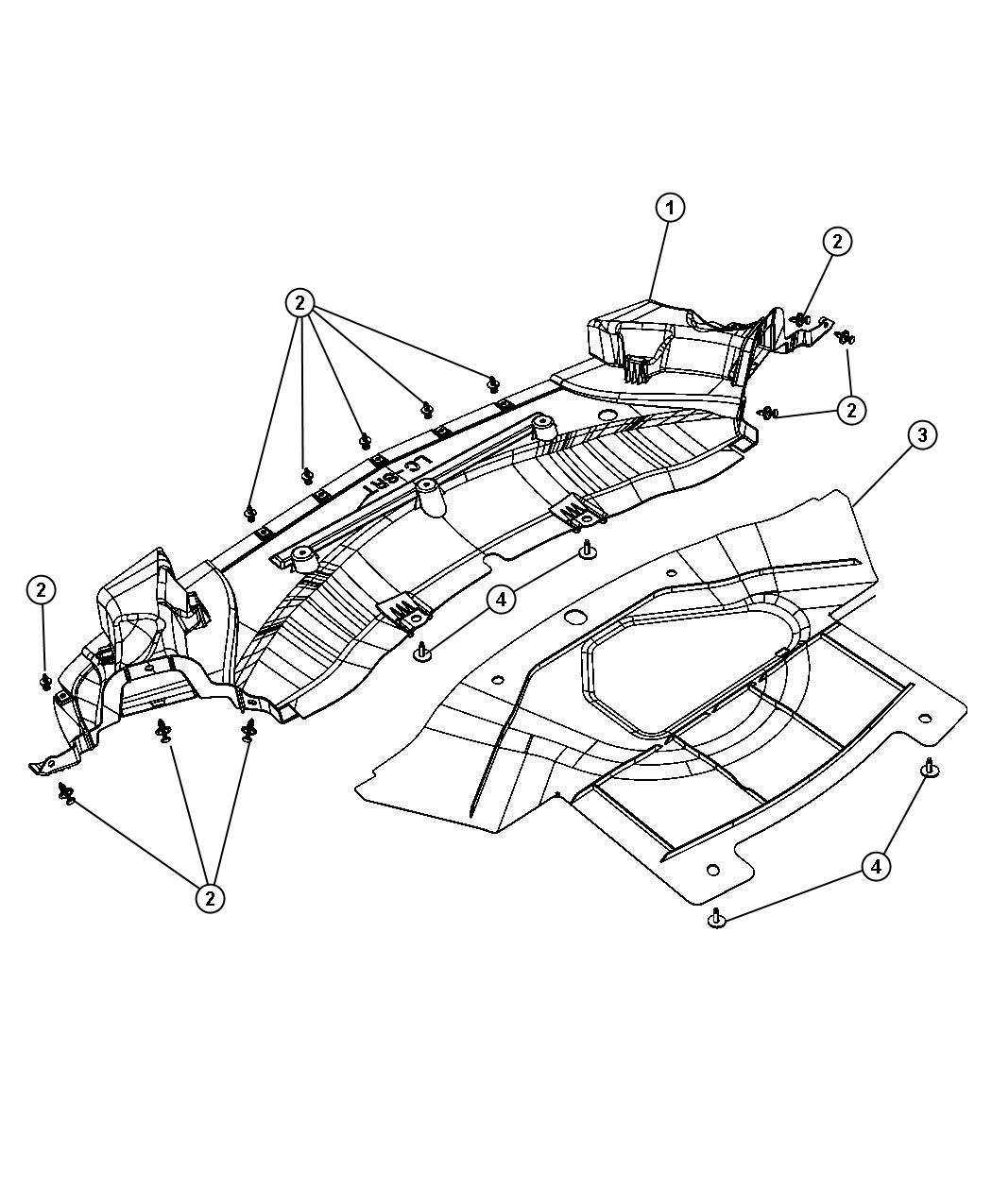Dodge Challenger Belly Pan Front Vvt Engine Hemi