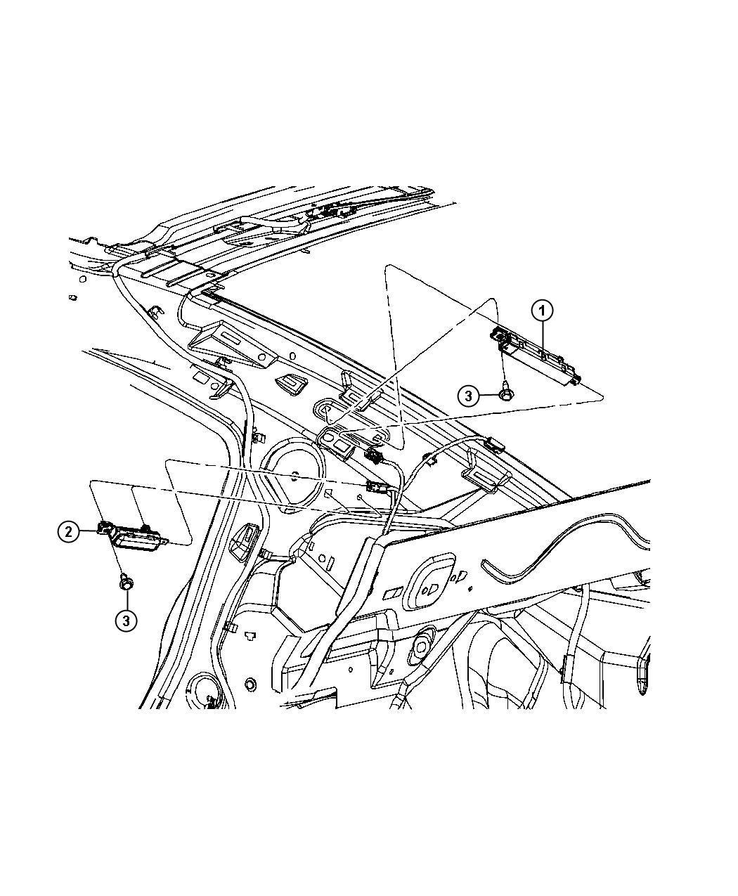 Chrysler 300 Antenna Module Re3 Or Rb4 Dvd Black Audio