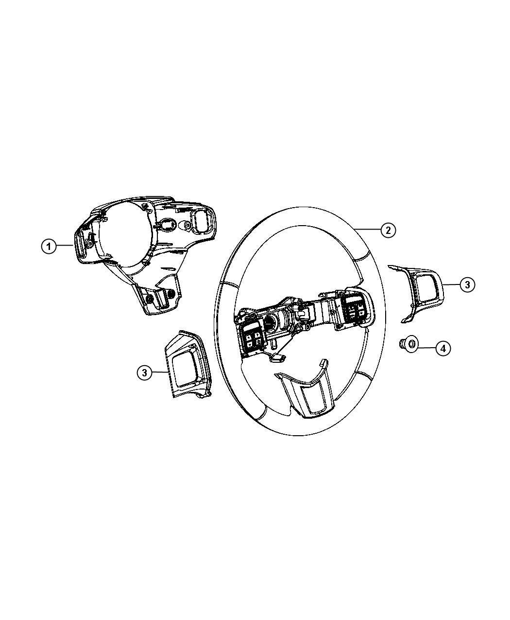 Chrysler 300 Bezel Steering Wheel Left Trim No