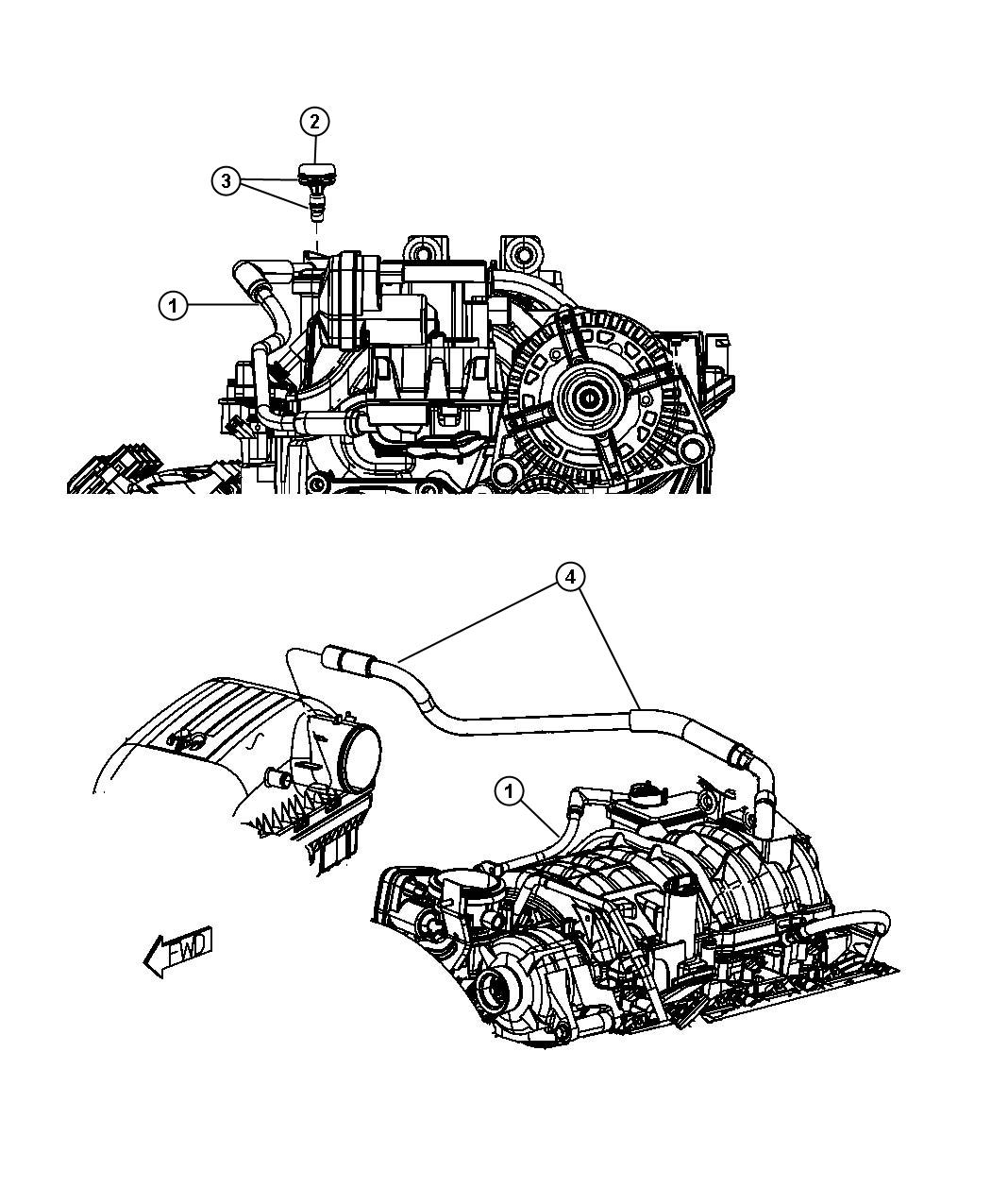 Dodge Ram Hose Make Up Air Engine Crankcase