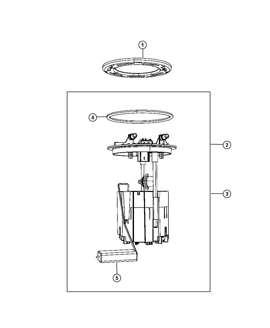 Dodge Grand Caravan Module Kit Fuel Pump Level Unit