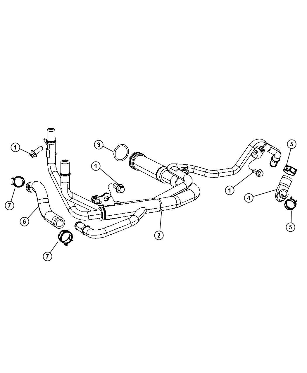 2014 Jeep Grand Cherokee Tube. Cooling, system