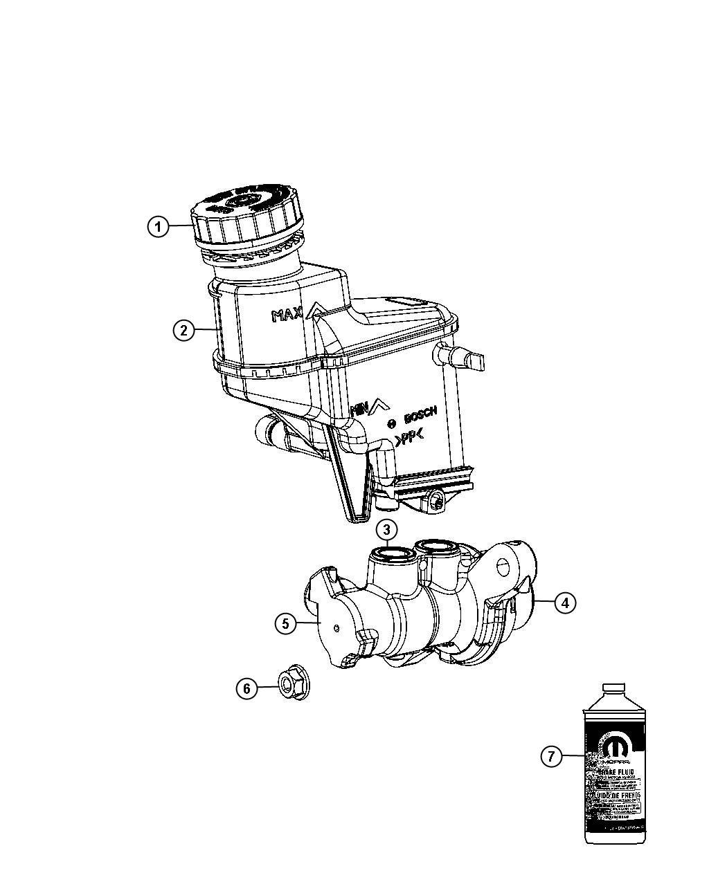 2013 Fiat 500T Master cylinder. Brake. [regenerative 4-whl
