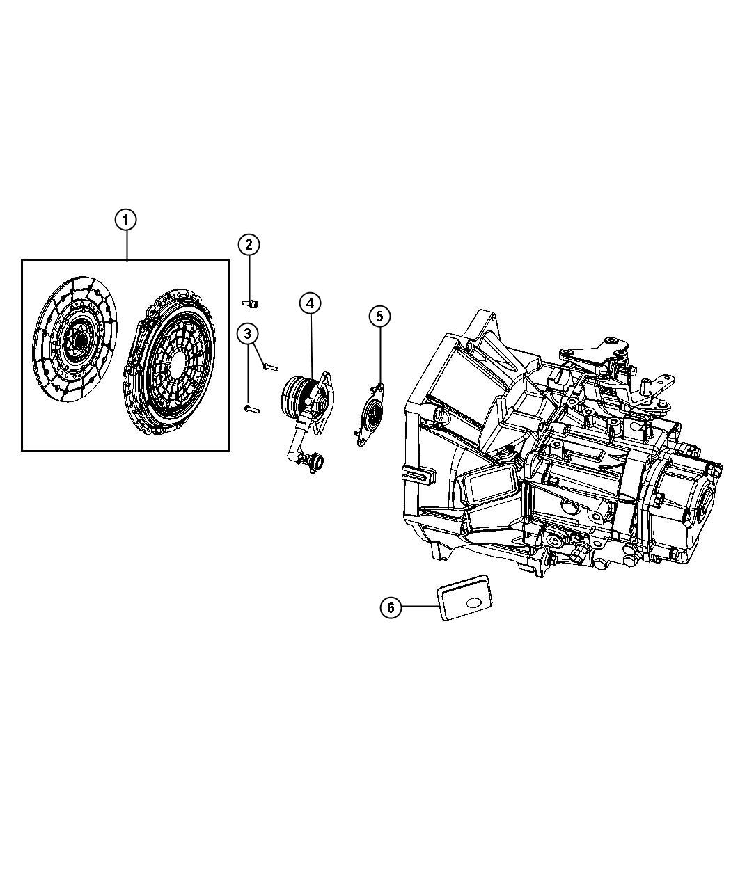 2013 Fiat 500X Clutch kit. Used for: pressure plate and