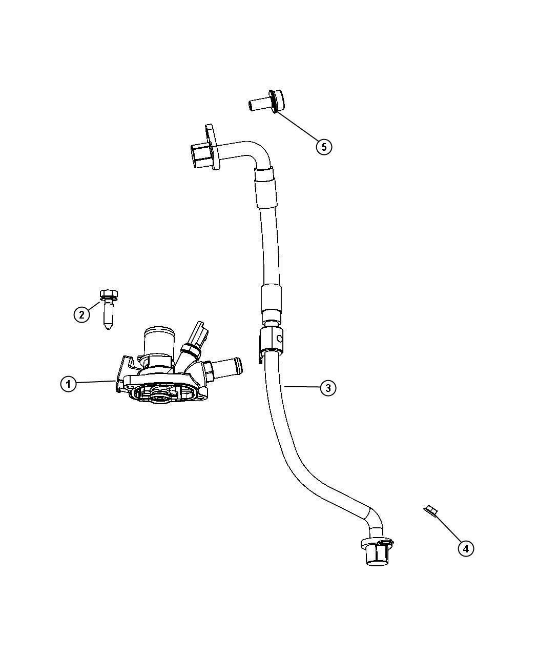 Fiat 500x Housing Thermostat Power Train Parts Module
