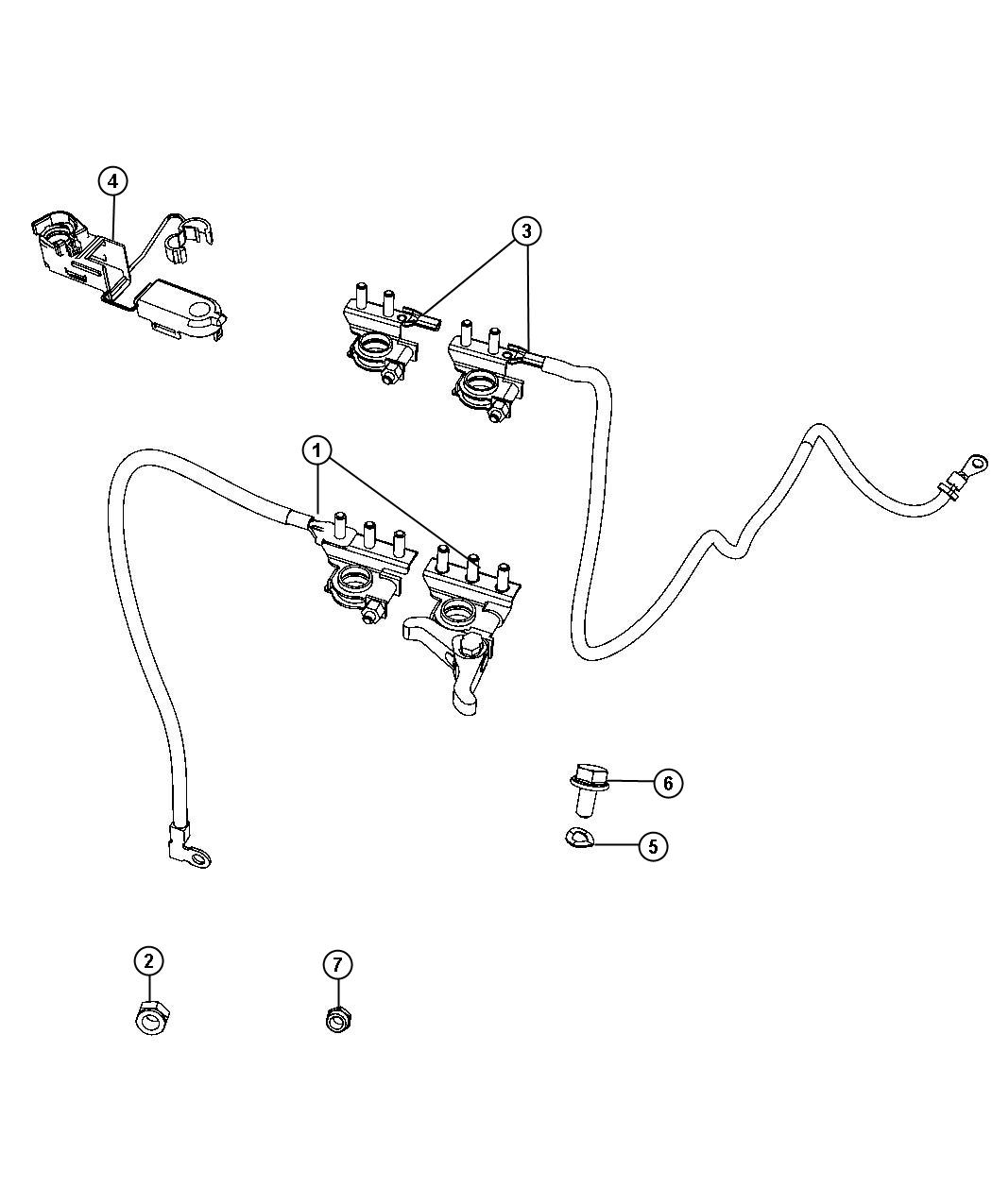 Fiat 500X Wiring. Battery positive, used for: alternator