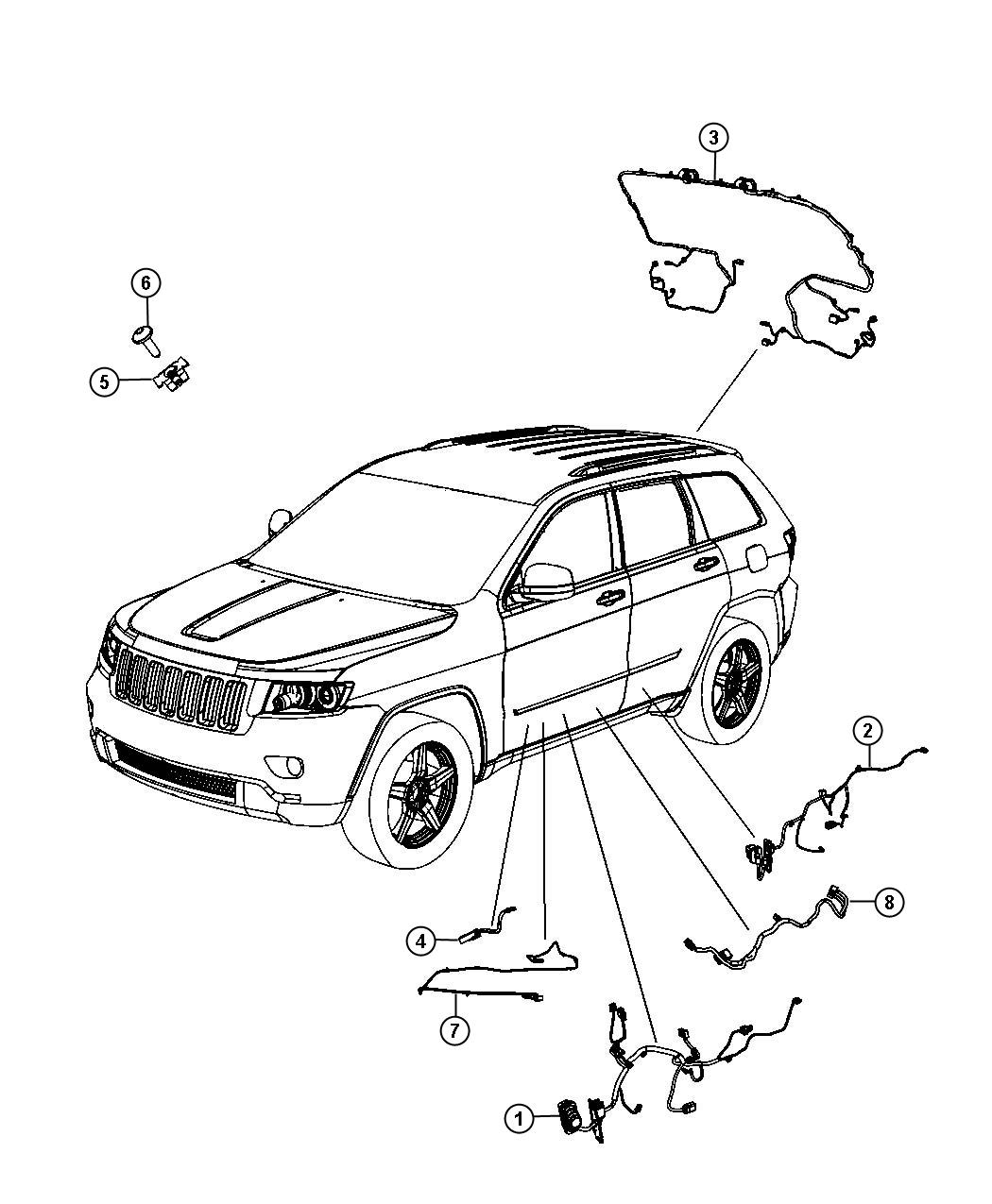 Jeep Grand Cherokee Wiring. Liftgate. Electrical, door