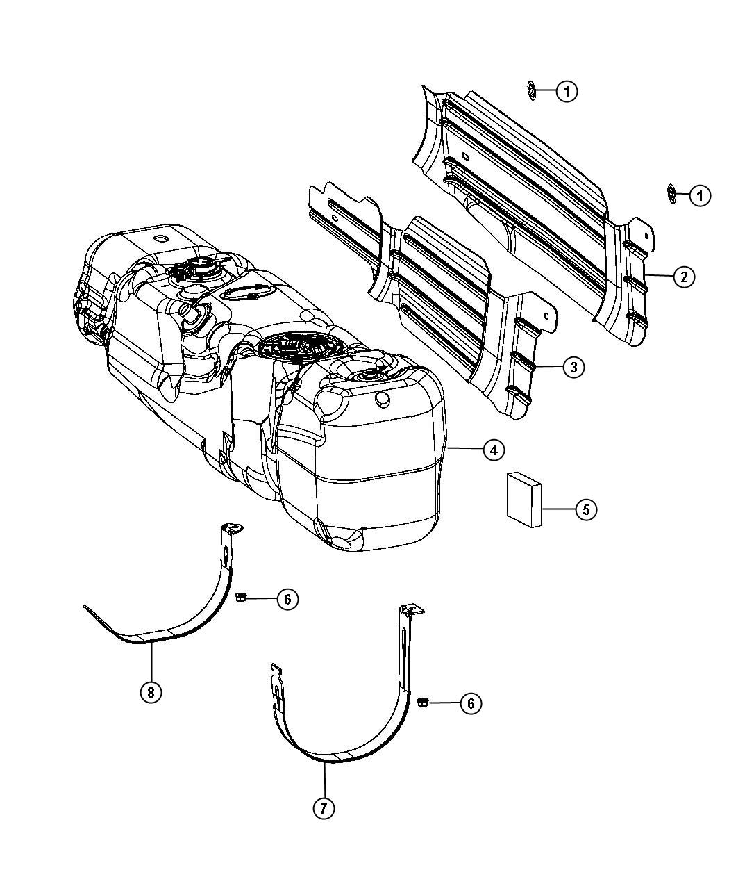 Dodge Ram Tank Fuel 34 Gallon Fuel Tank
