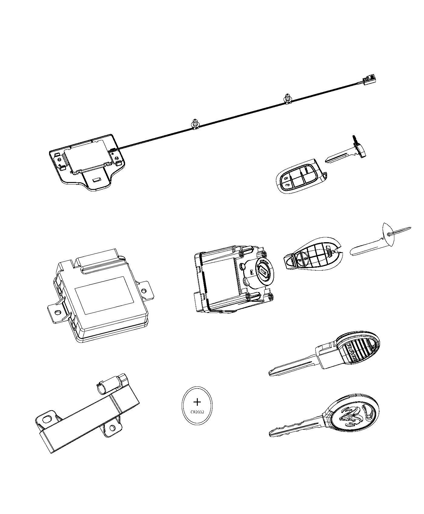 2013 Dodge Ram 1500 Receiver. Hub. [sentry key theft