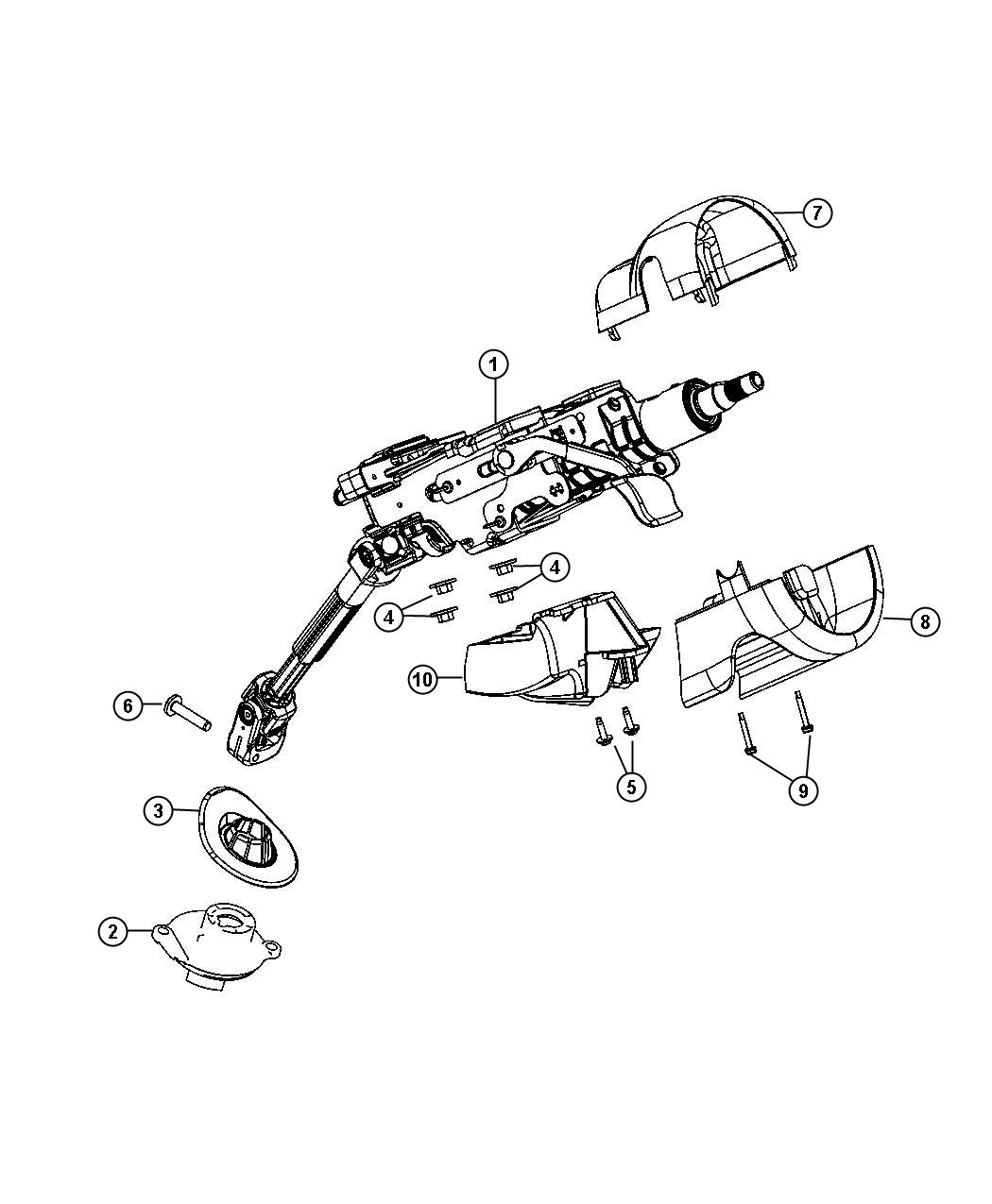 Dodge Dart Column. Steering. Tilt. [instrument panel parts