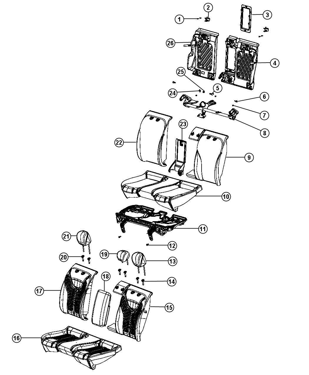 Dodge Dart Headrest. Rear. Center. [-a5], [-a8]. Trim