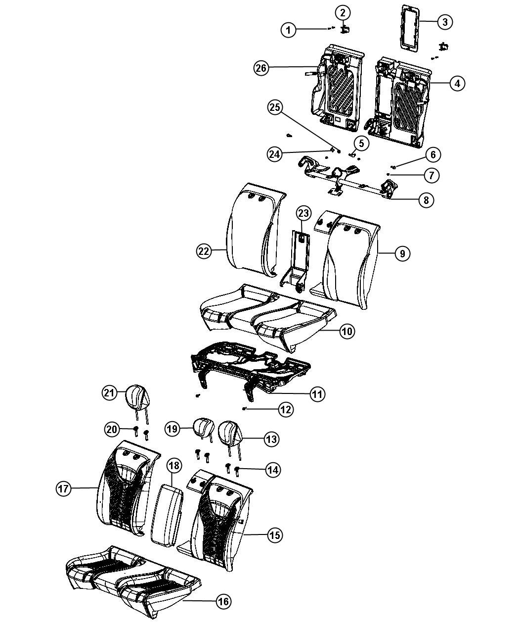 2013 Dodge Dart Cover. Rear seat cushion. Trim: (*g7