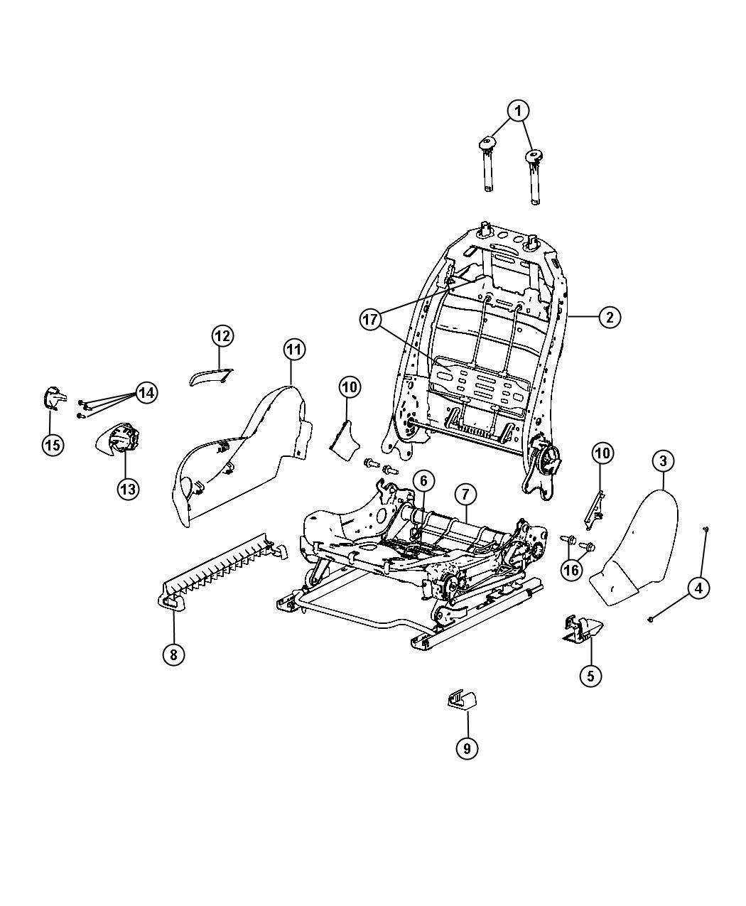 2013 Dodge Dart Adjuster. Seat. System, occupant