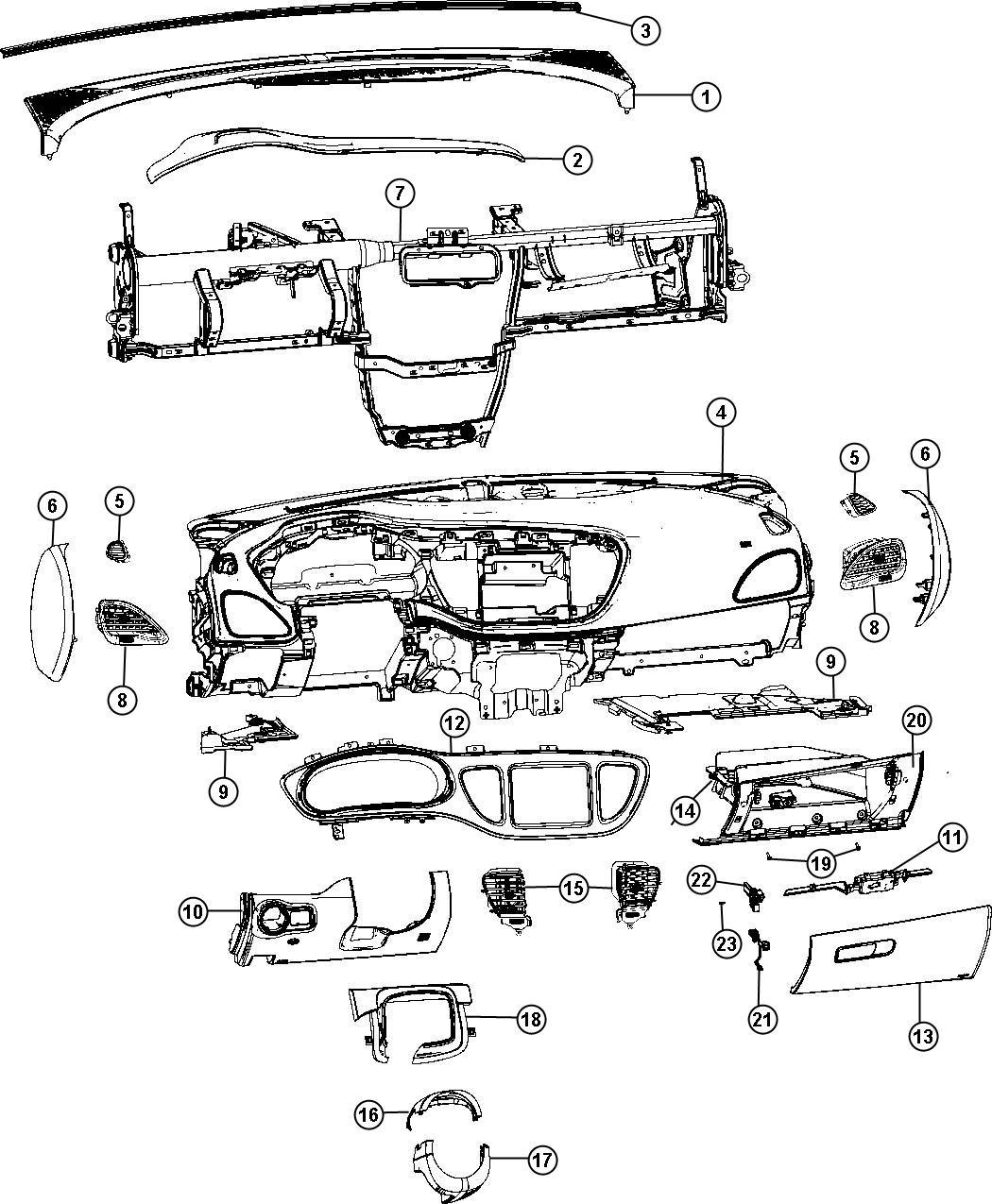 2013 Dodge Dart Panel. Instrument panel closeout. Left