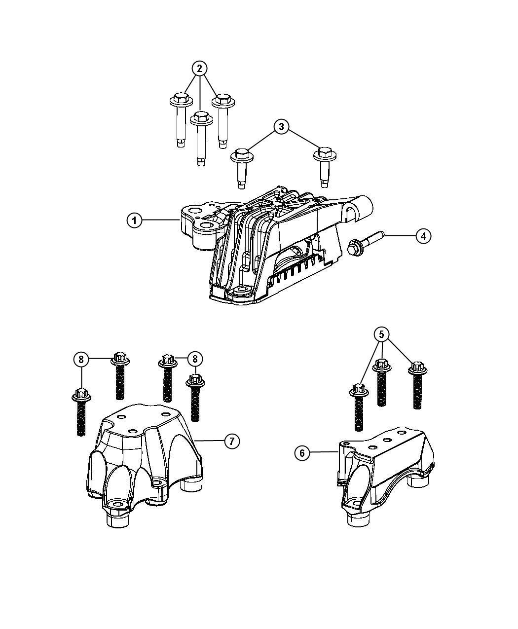 2013 Dodge Dart Bracket. Transmission mount. [6-speed c635