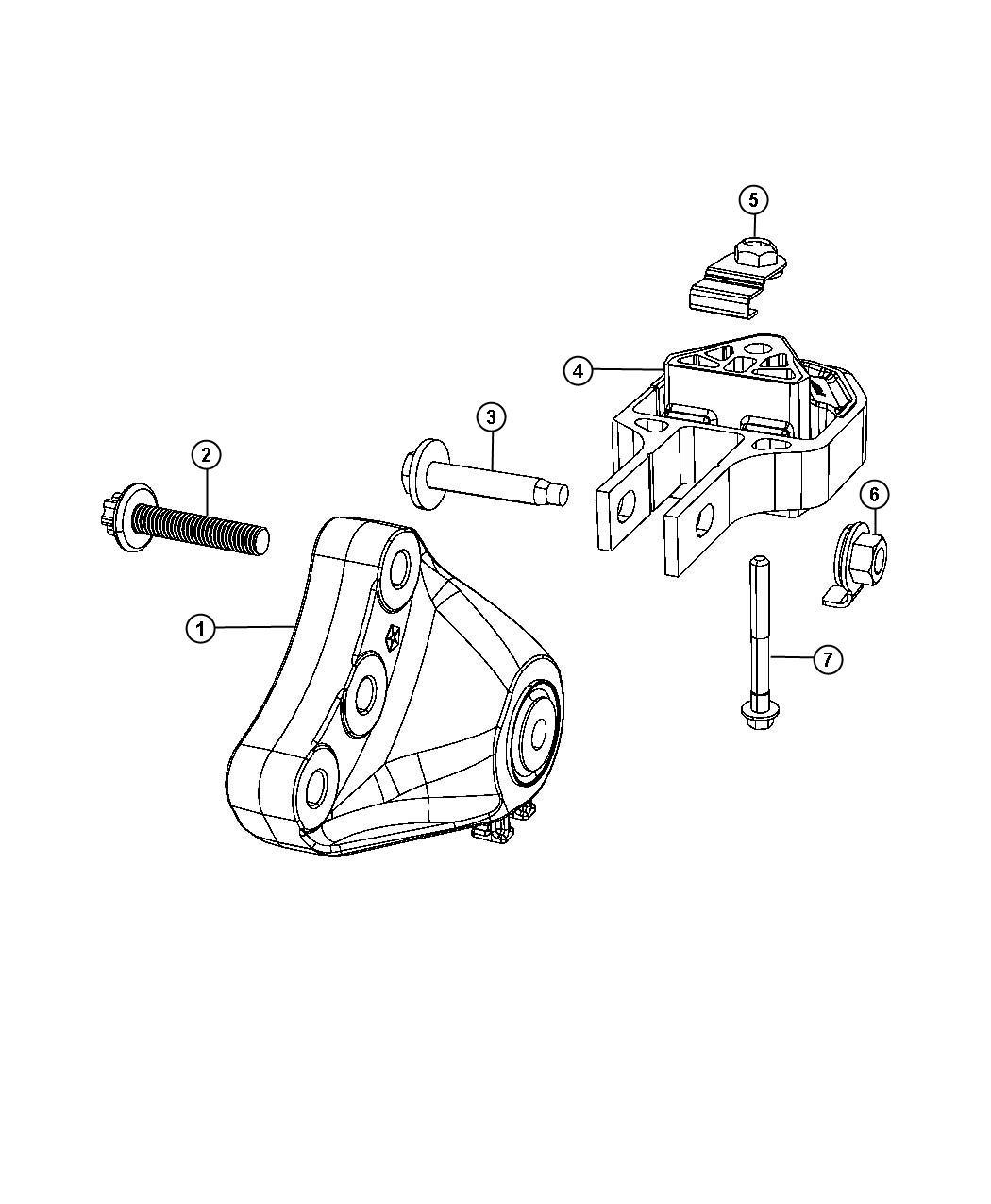 2013 Dodge Dart Bracket. Engine mount. Module, train