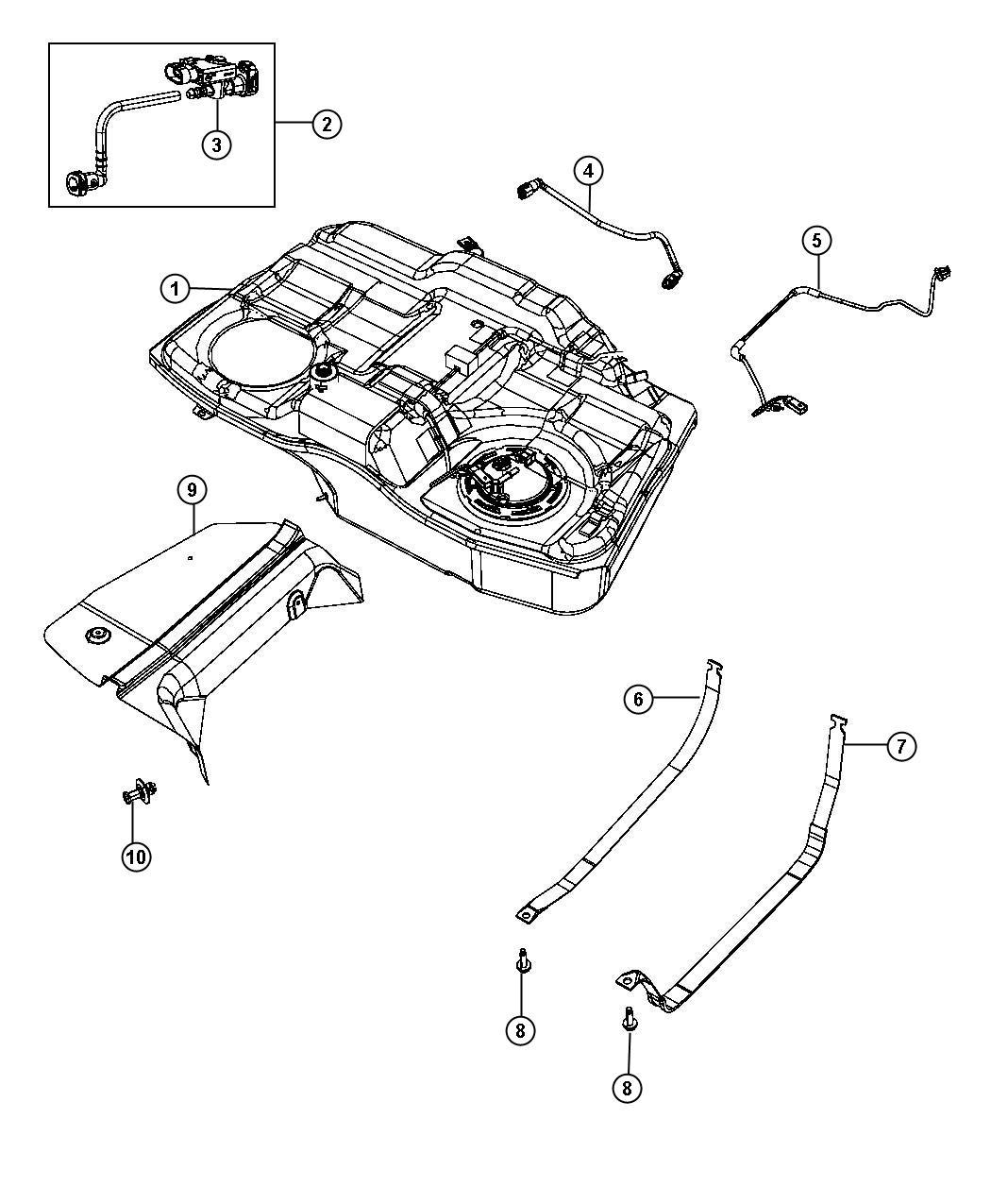Dodge Avenger Tube. Fuel vapor recirculation. Tank, mopar