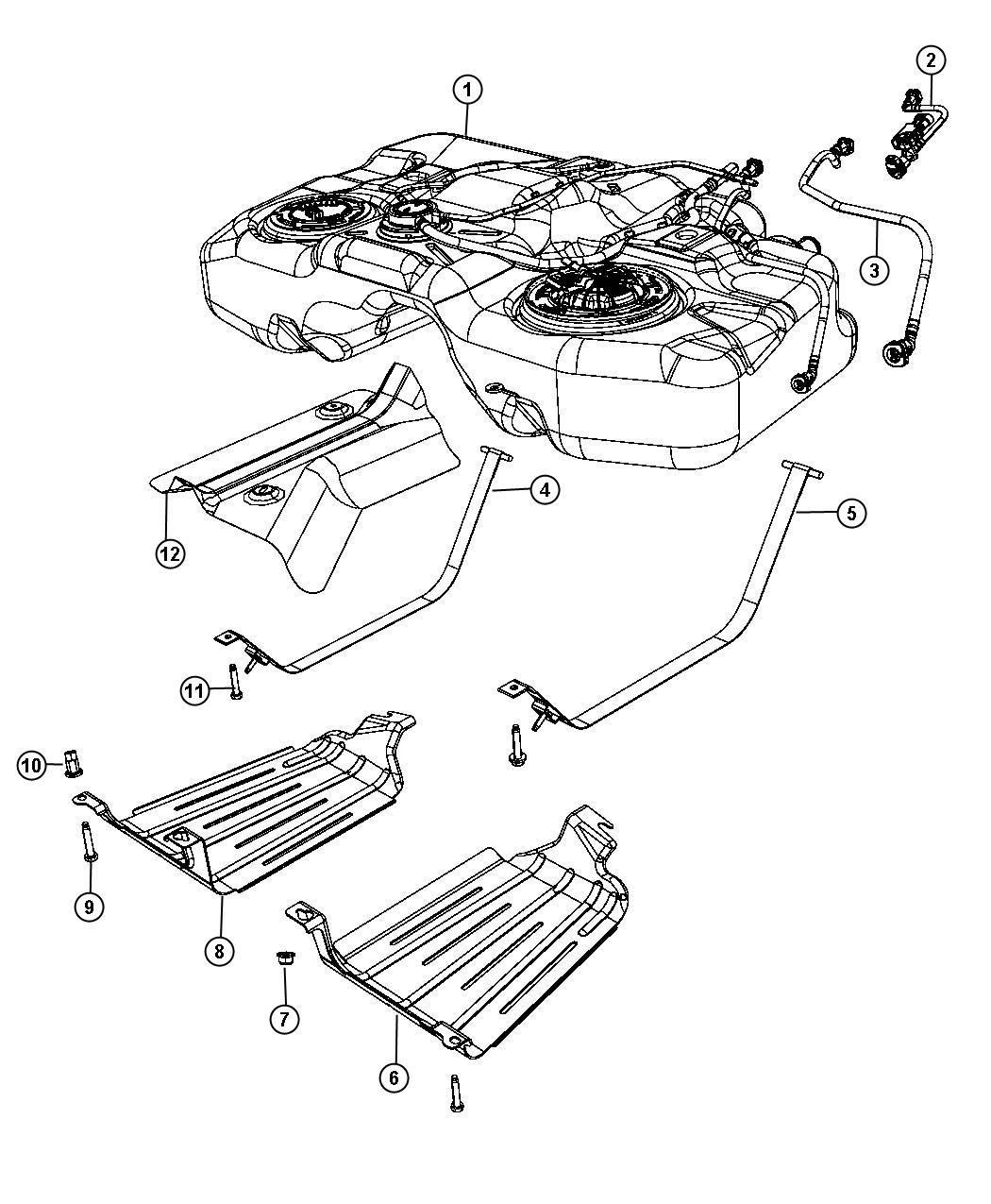 Jeep Patriot Shield Fuel Tank Heat Gallon
