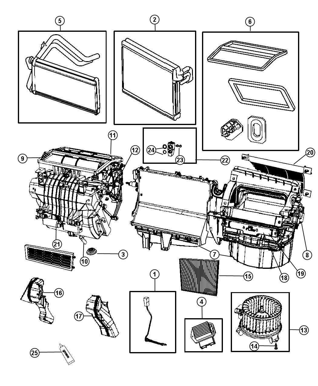 2013 Jeep Compass Drain. Used for: a/c and heater. Export