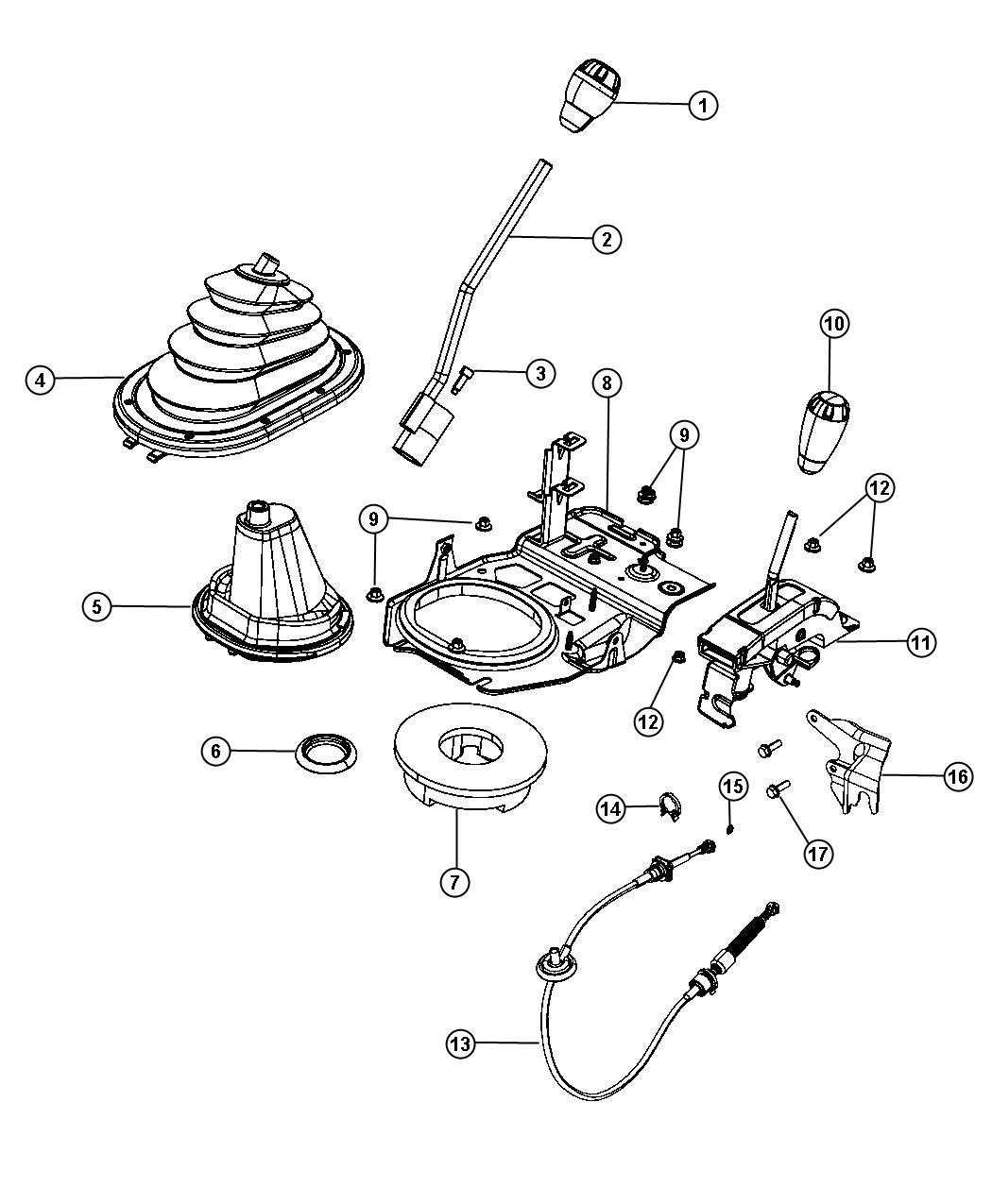 Jeep Wrangler Lever. Gearshift, manual transmission shift