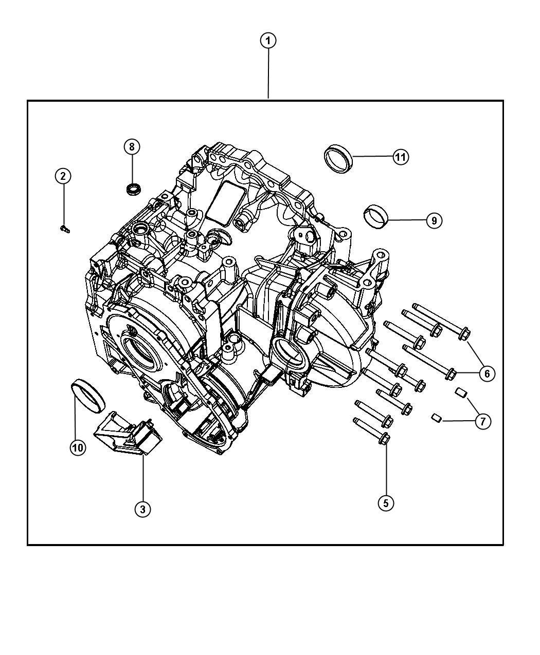 Dodge Avenger Case Transaxle