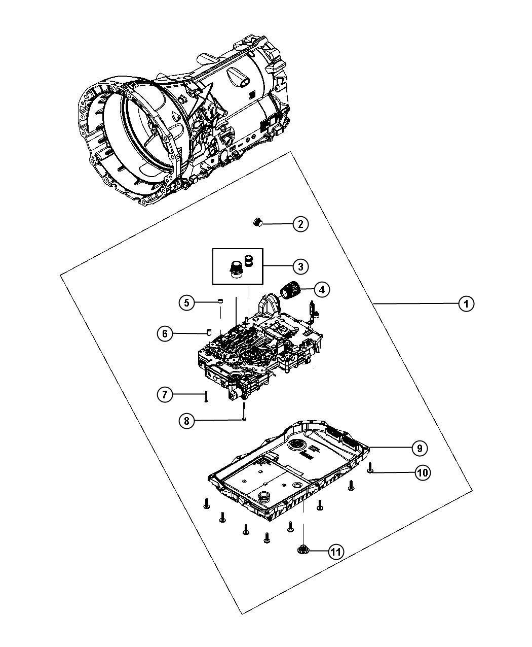 Chrysler 300 O ring kit. Valve body. Transmission. Power