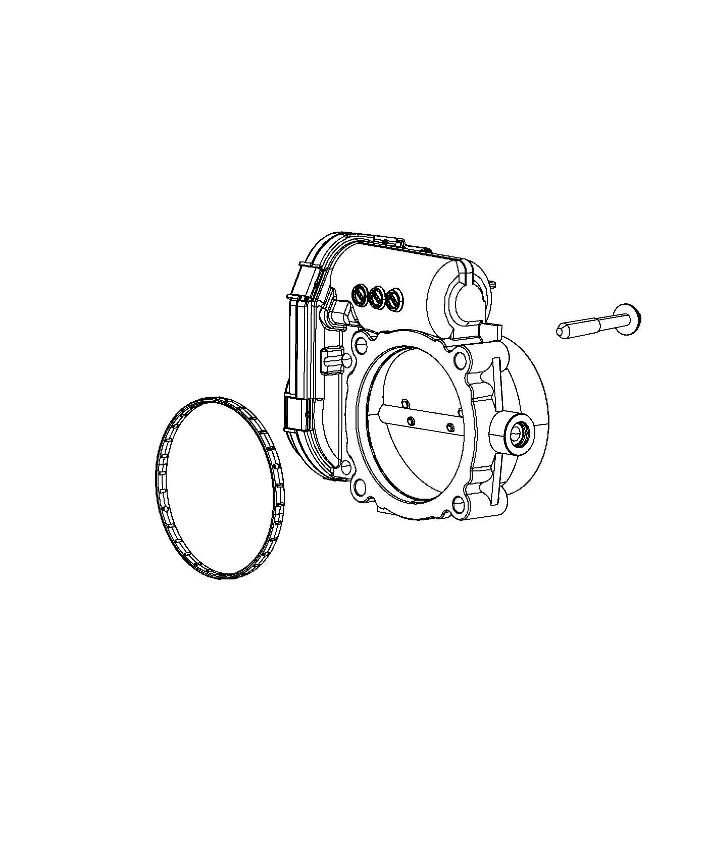 Ram Throttle Body 3 6l Mid V6 Engine