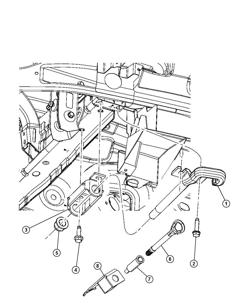 2013 Jeep Grand Cherokee Bracket. Tow hook. [tow eye