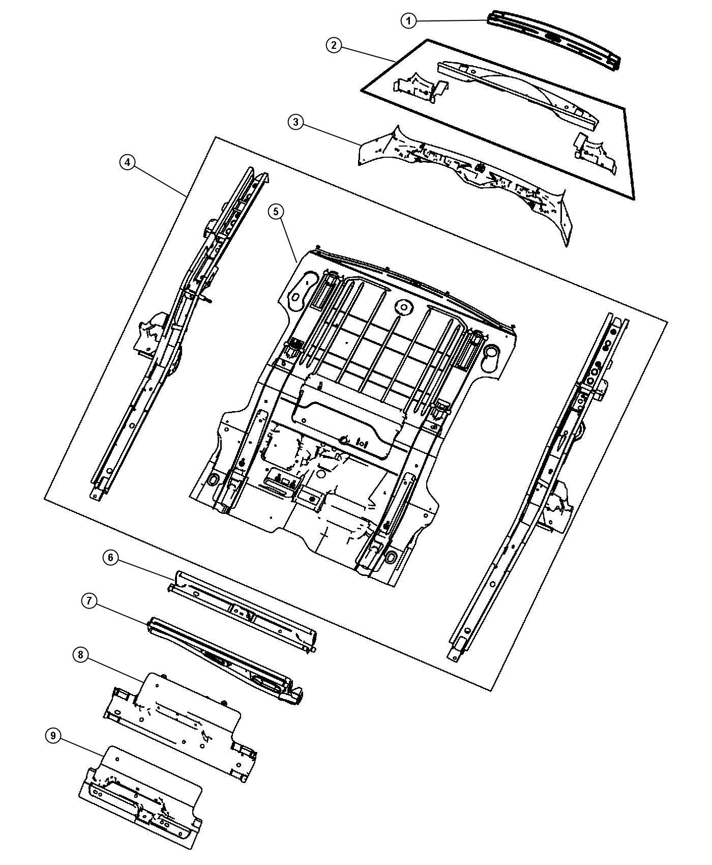 2011 Jeep Liberty Crossmember, panel. Floor pan, liftgate