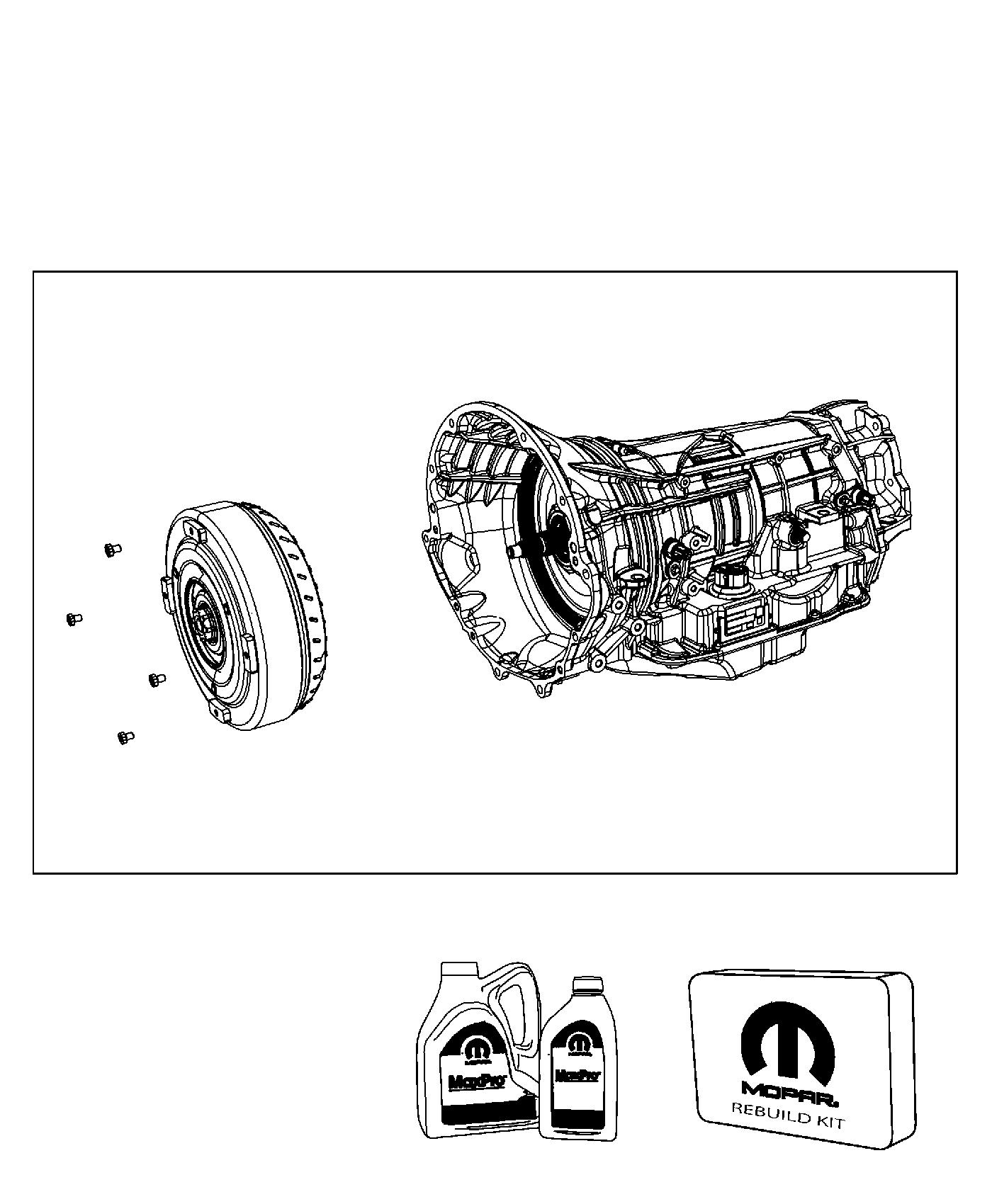 Ram 1500 Transmission kit. With torque converter