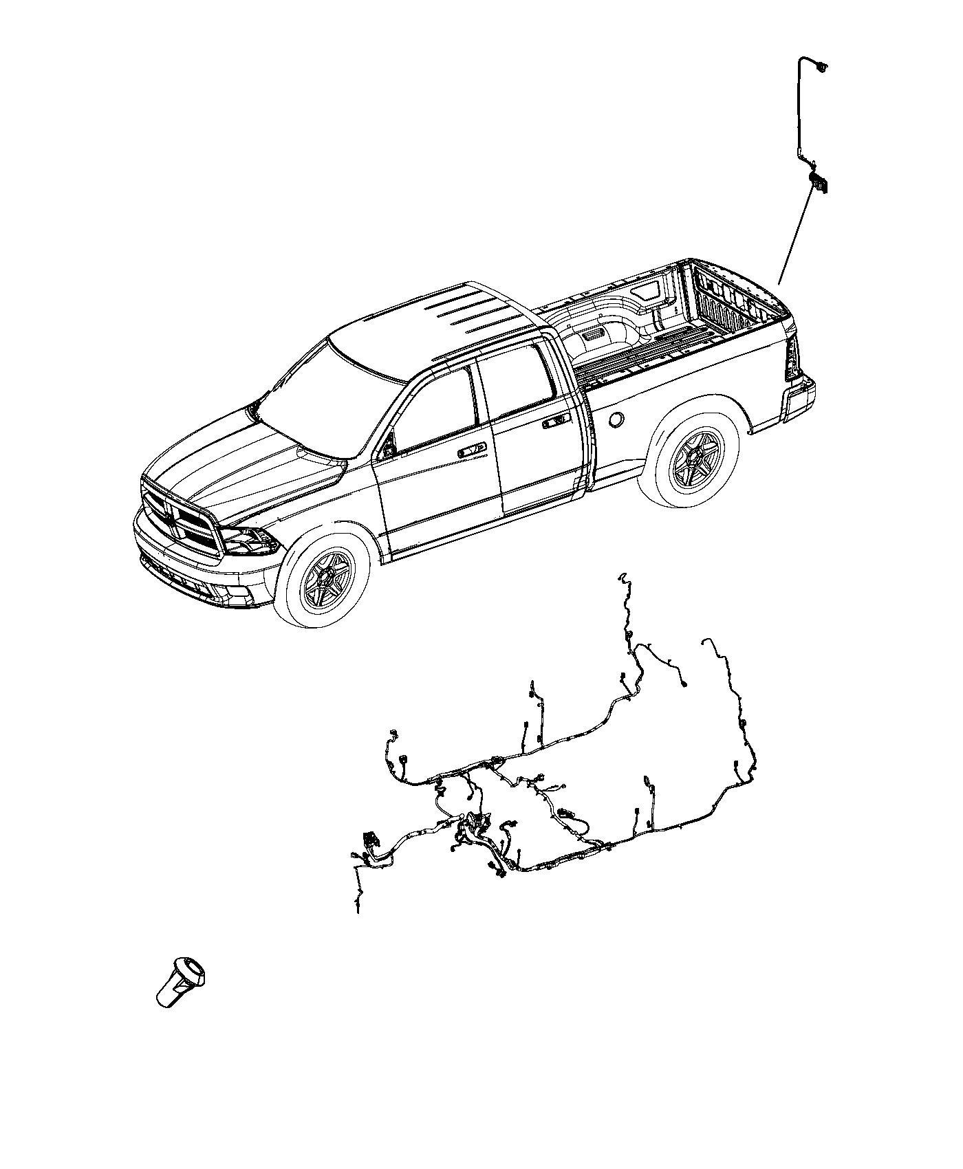 2013 Dodge Ram 1500 Wiring. Body. Rear, window, power